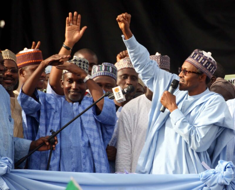 Alhaji Buhari, during his campaign for president.