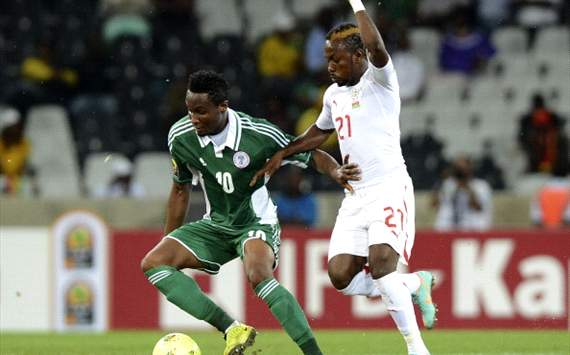 The terrific Mikel Obi displaying what he knows how to do best