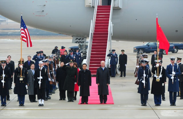 President Hu Jintao of the People's Republic of China, arrives at Andrews Air Force Base