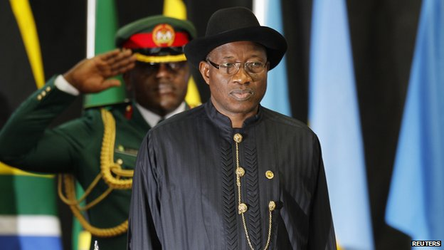 President jonathan is a giant