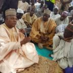 Shettima addressing the people after prayer